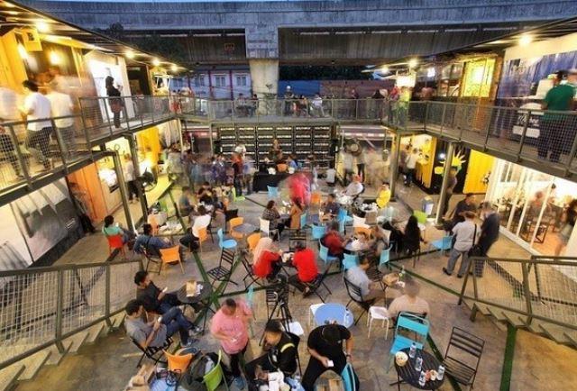 tempat nongkrong Pasar Santa jakarta